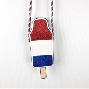 Mossimo Popsicle Red White & Blue Crossbody Bag